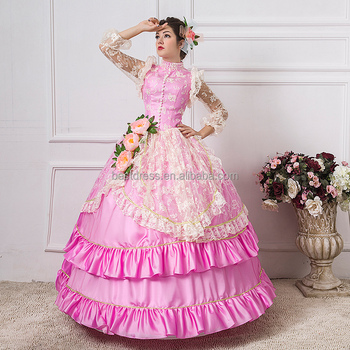 Royal Court Stage Party Costume Medieval Renaissance Ball Gown ...