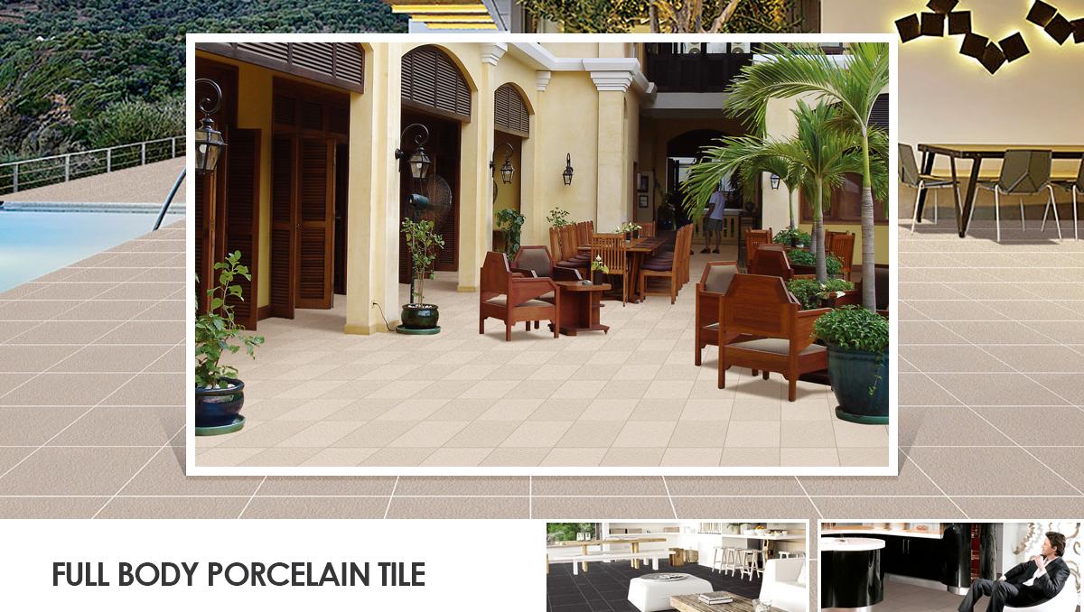 Non Slip Outdoor Floor Tile Full Body Porcelain Wearable Tile Paver
