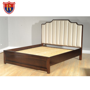 2018 popular headboards American Style wooden leather bed