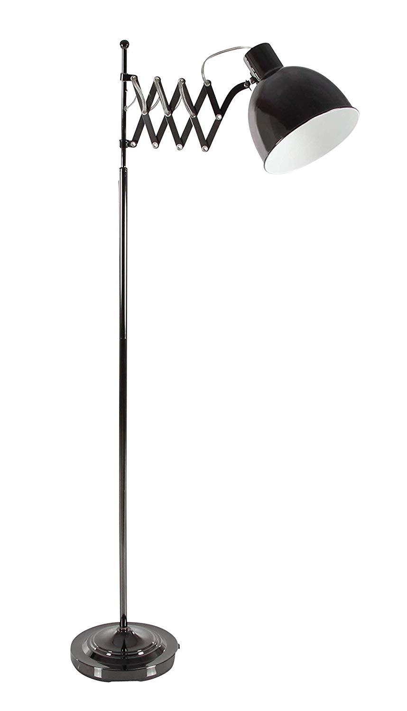 Deco 79 50574 Iron Accordion Arm Floor Lamp, Black
