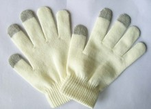 Acrylic knitted cheap custom magic winter gloves