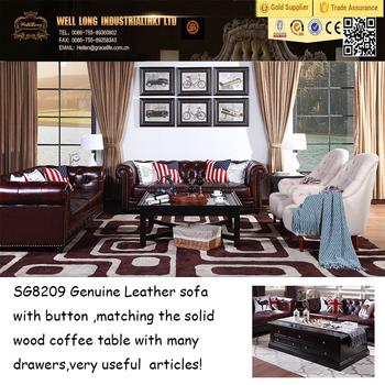 High Density Sponge Sofa Furniture Genuine Leather Sofa Set Designs  Furniture Sofa