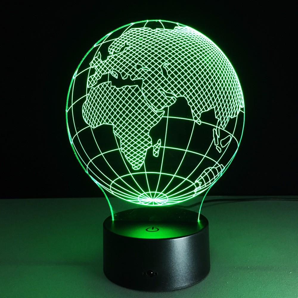 Topnotch Zogift Carte Europe 3d Illusion Globe Lampe Chambre 3d Lumière MH-45