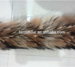 100% Raccoon fur trim fur collar for hood