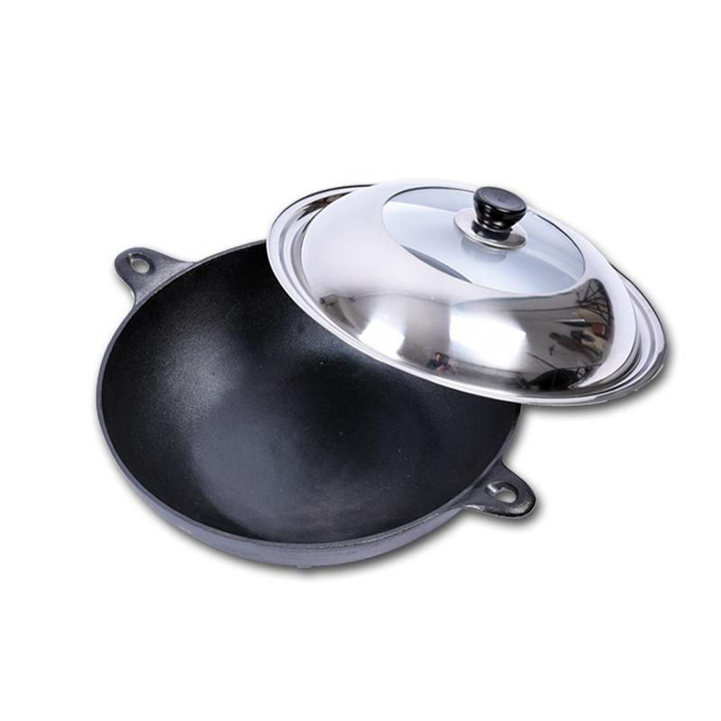 online kaufen gro handel iron wok pan aus china iron wok pan gro h ndler. Black Bedroom Furniture Sets. Home Design Ideas