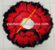 rainbow pettiskirt and tank top with chiffon rosette