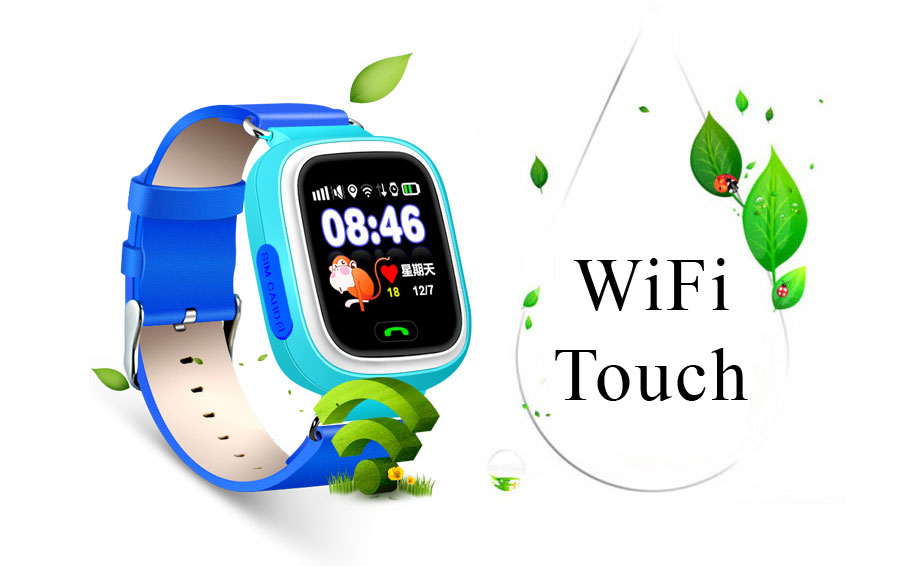 2017 New gps tracking device smart watch sim for kids Q80 Q90