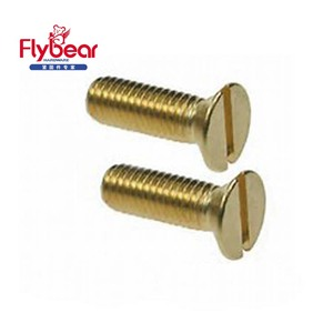 China manufacturer Brass Slotted Countersunk Head(CSK) Wood Screw DIN963 M6 M8 stainless steel 304/316 machine screws