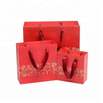 Paper Gift Bags Red Indian Wedding