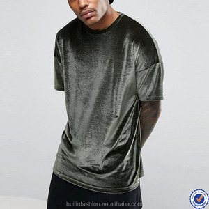 bangladesh clothing longline t shirt for men dropped sleeves velour t shirts for men