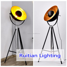 Spot light Black Gold Satellite Industrial Vintage Tripod Floor Lamp