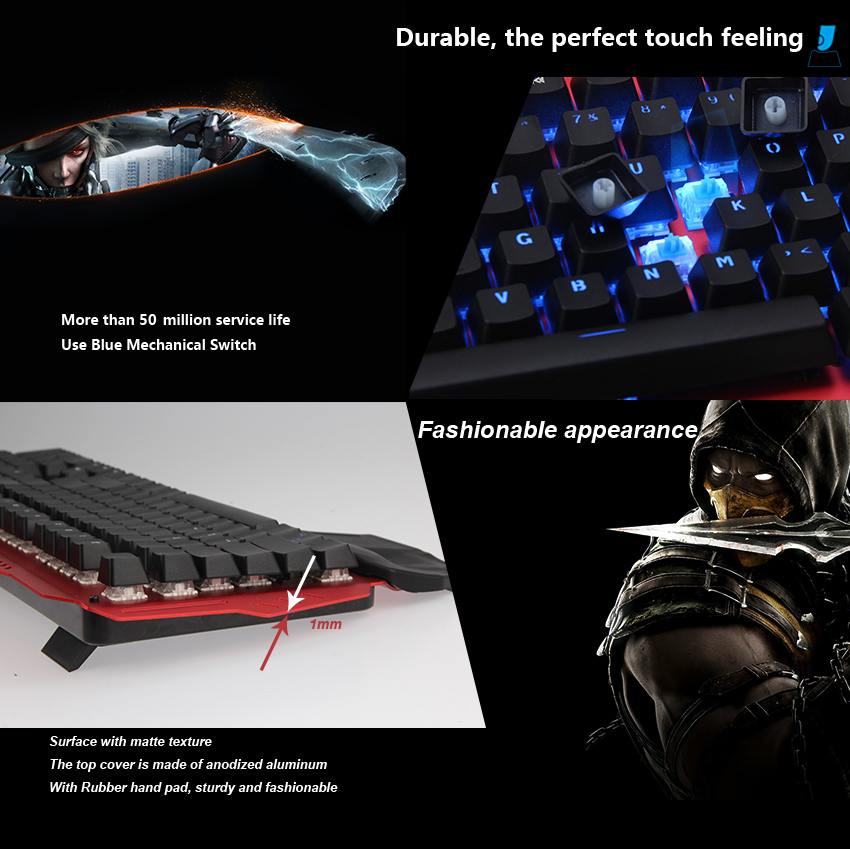 Promotional 104 Keys Jixian Switch RGB Chroma Backlit Mechanical Gaming Keyboard For Professional Gamer
