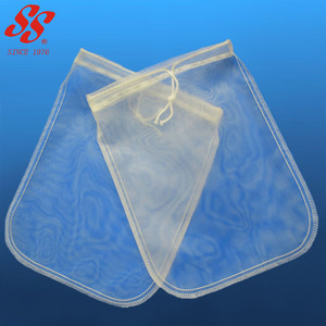 food grade 200 micron nylon cheesecloth filter bag / nut milk bag / strainer bag for cold brew coffee yogurt juice filter