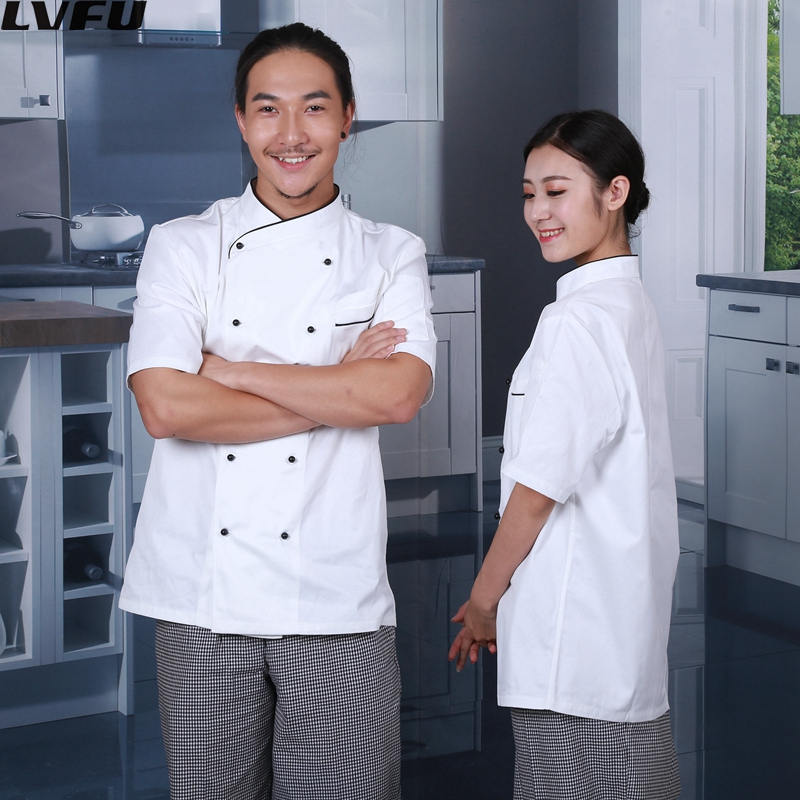 Katoen chef kok restaurant uniform jas indonesië