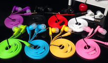 Flat Cable Earphone 3.5mm Headphone headset For Samsung iPhone 5 6 6s Stereo Bass MP3 MP4 B brand fone de ouvido gift