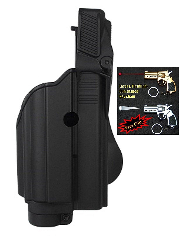 IMI-Z1500- TLH Tactical light/laser holster level 2 Sig P250 Compact,P250 FS,227,P220,P226,P229, Sig Pro2022,MK25,P220 + Laser & Flashlight Gun Shaped Key Chain.