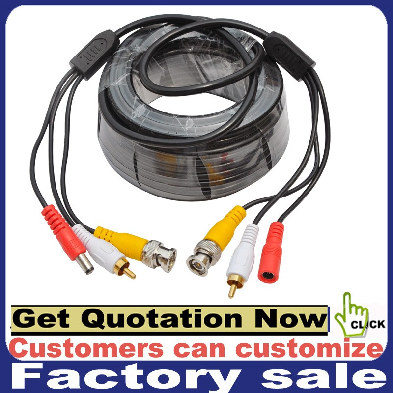 300ft Power Video Security Camera Cable BNC Extension Wire Cord for All CCTV DVR