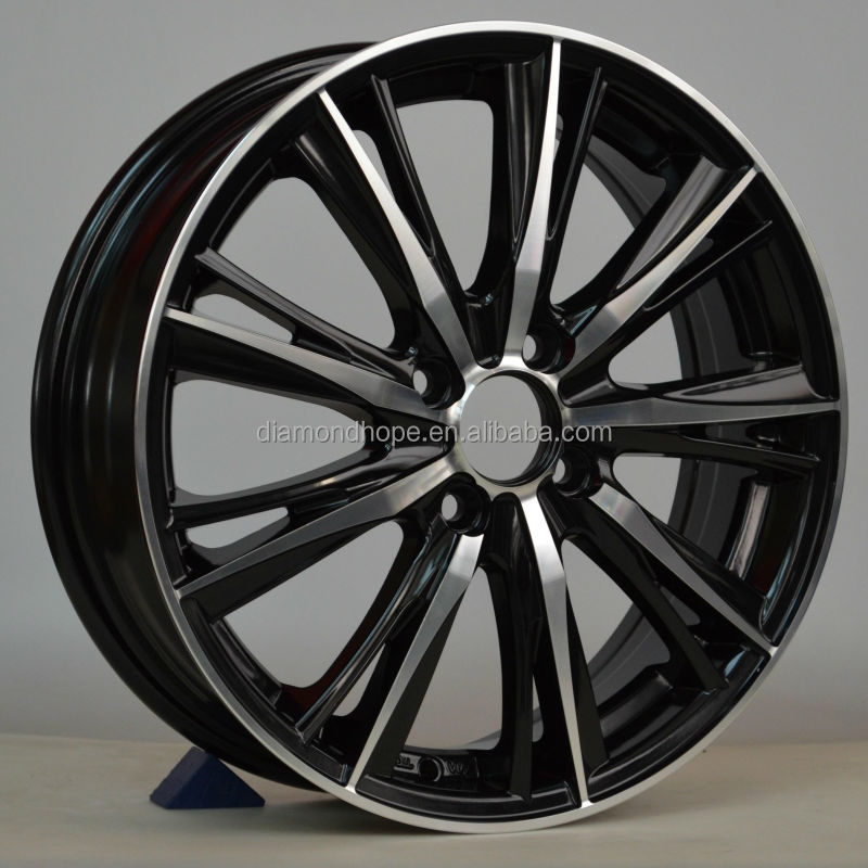 Wholesale rotiform replica alloy wheel aluminum alloy black wheel with chrome lip (ZW-S094)