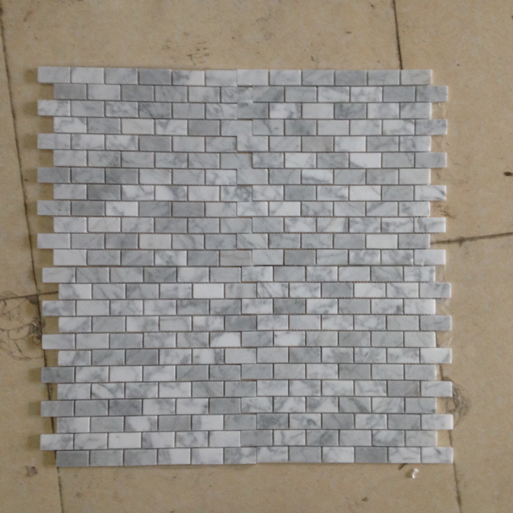White Carrara Pattern Marble Mosaic