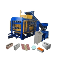 Qt4-25 Brick And Paver Making Machine Semi Automatic Used Vibration Block Machine