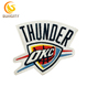 Special custom design patch for NBA OKC THUNDER embroidery patch