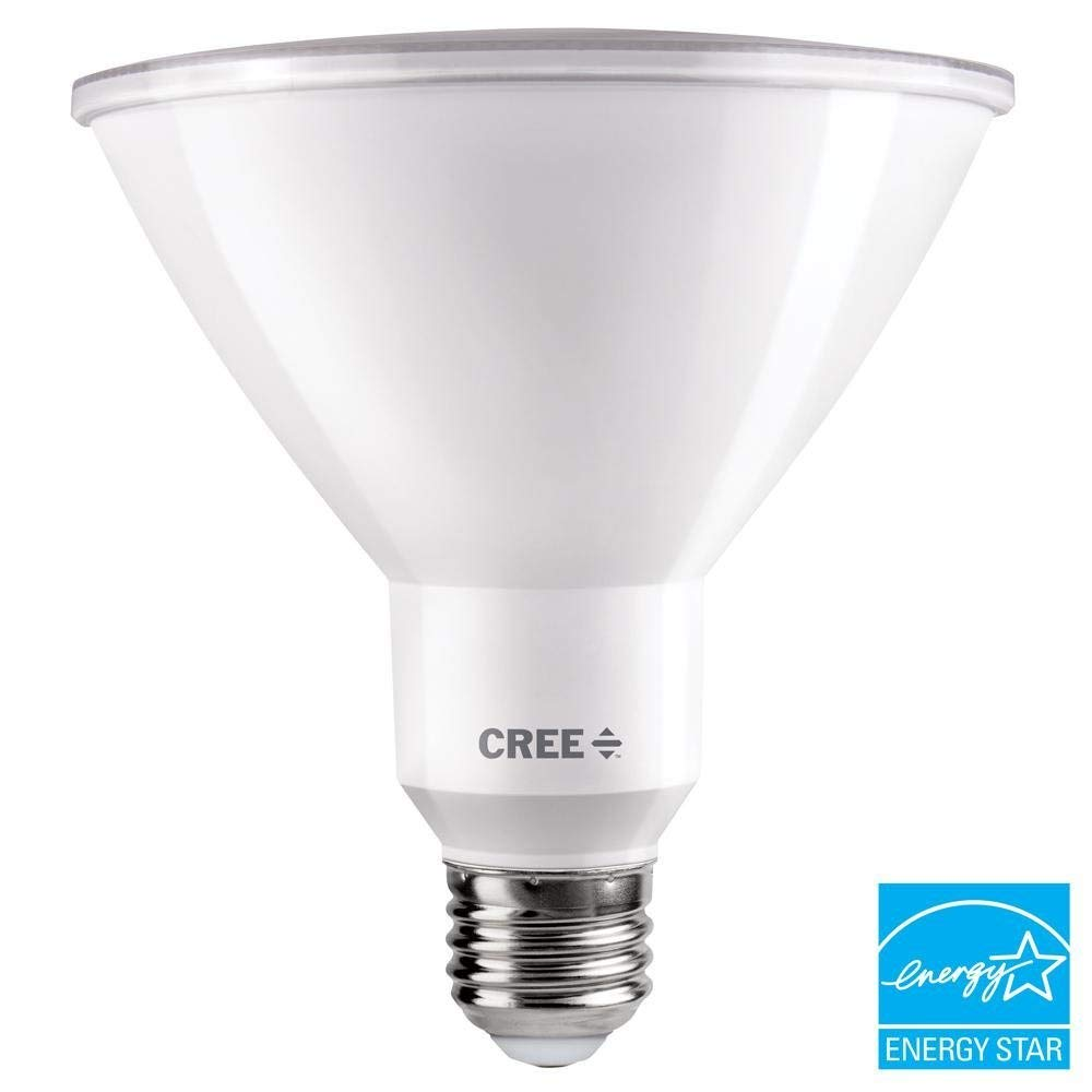 Cree 120W Equivalent Bright White (3000K) PAR38 Dimmable Exceptional Light Quality LED 40 Degree Flood Light Bulb