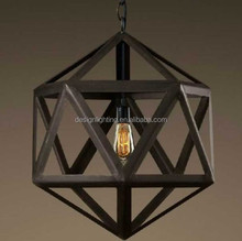 Poliedro industrial vintage light pendant