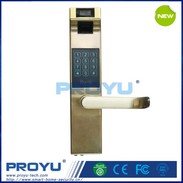 Good quality ID card keyless fingerprint door lock for wooden doors for office PY-8912J