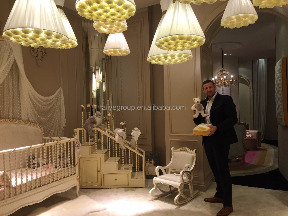 ak24 solid wood baby bed crib wooden luxury baby crib
