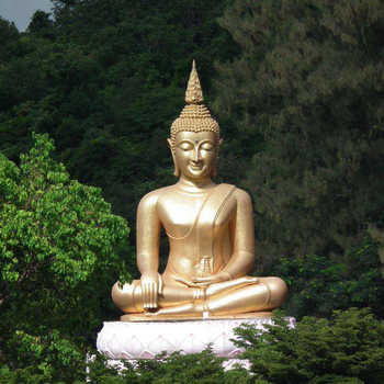 antique outdoor sculpture metal crafts lord buddha statue for sale