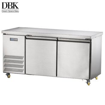 Factory Price!!! DBK Fresh Vegetable Refrigerator Two Doors Uundercounter Freezer with Glass Door