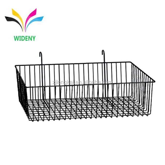 High Quality Black Wire Metal Hanging Baskets for sale
