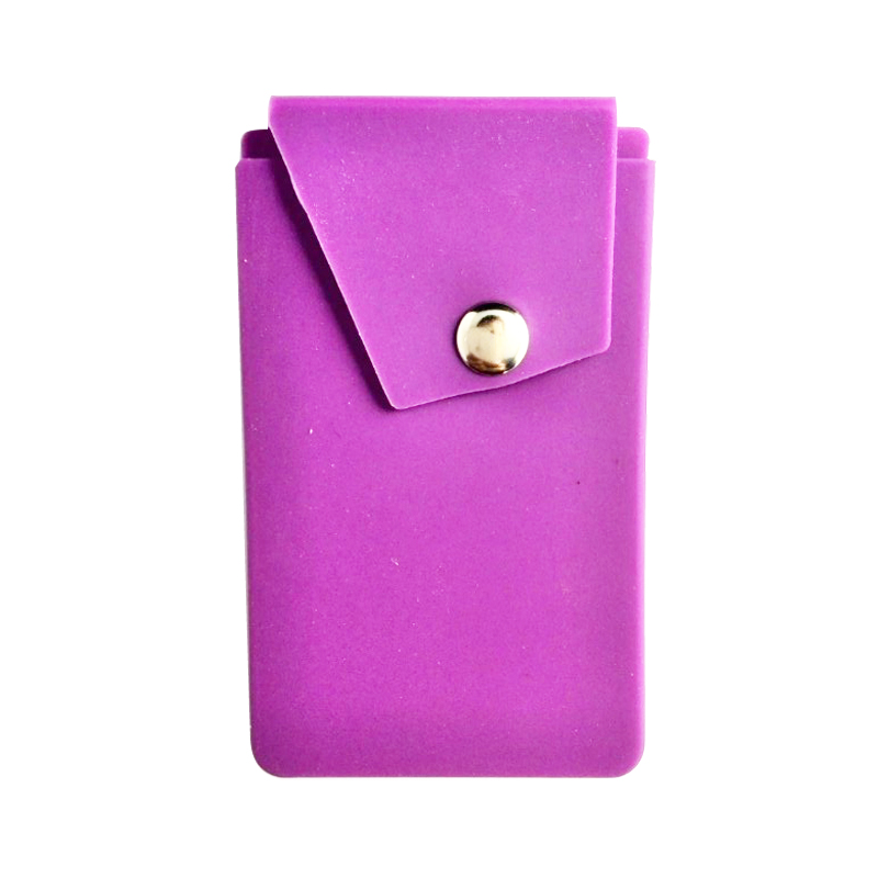 Oempromo silicone cell phone credit card holder with 3m Sticker