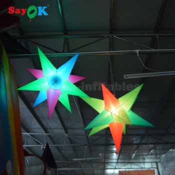 event led inflatable star wedding decorations outdoor led christmas star