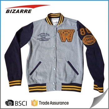 Custom Made 100% Cotton Fleece Baseball Jacket - Buy Mens Fleece ...