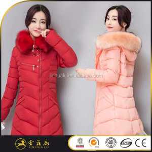 Top quality feather female orange down coat clearance