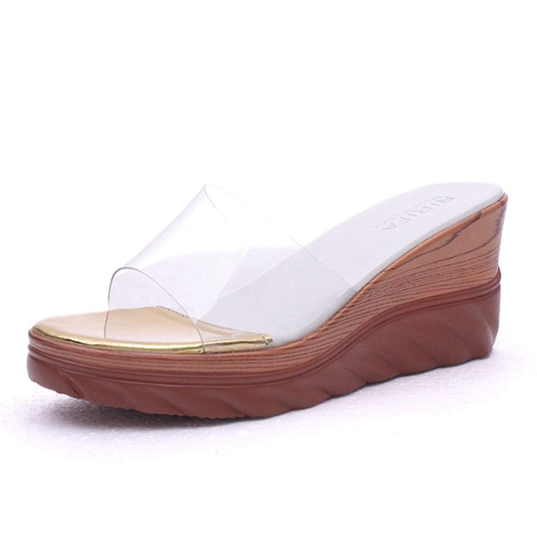 GIY Women Summer Platform Wedge Sandals Anti-Slip Fashion Casual Outdoor Slip On Slides Sandals