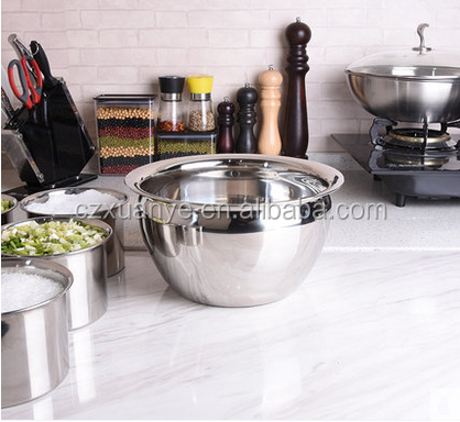 High Quality 201 Stainless Steel Mixing Bowls Restaurant Oil Basin