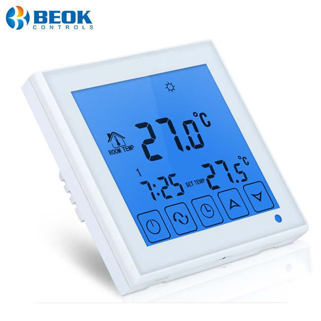 Beok TDS23-EP Wall Mounted Touch Screen Room Thermostat With Remote Sensor