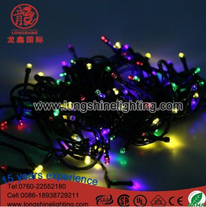 Warehouse Twinkle Christmas Outdoor PVC Black Wire Patio String Light Extension