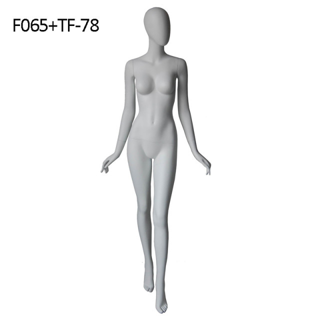 Props full-body female mannequin women's egg head fiberglass abstract human body
