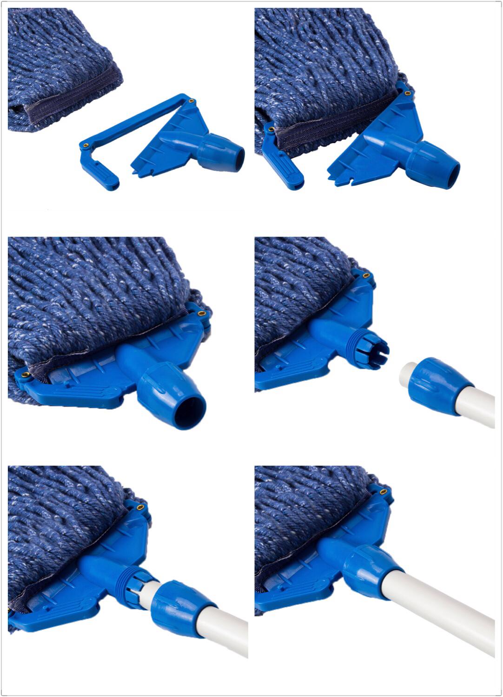 pva mops polyester und baumwolle garn perfekt wischmop China Hohe Qualität einfache reinigung Nassmopp