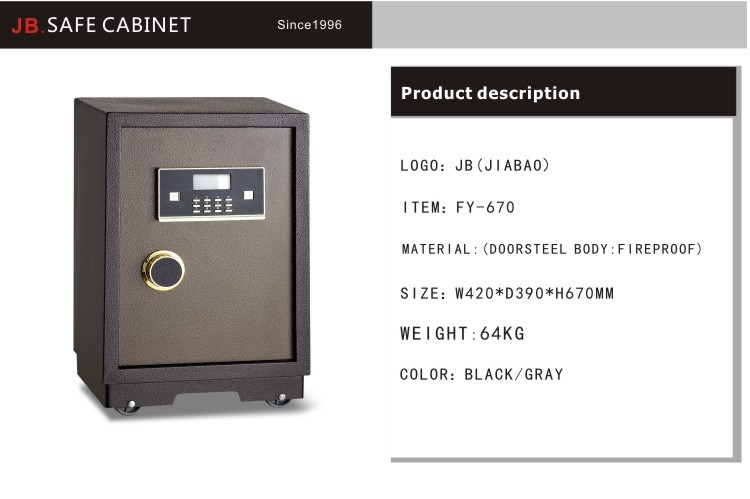 Jb high quality armor plate electronic digital safe for for Buy safe room
