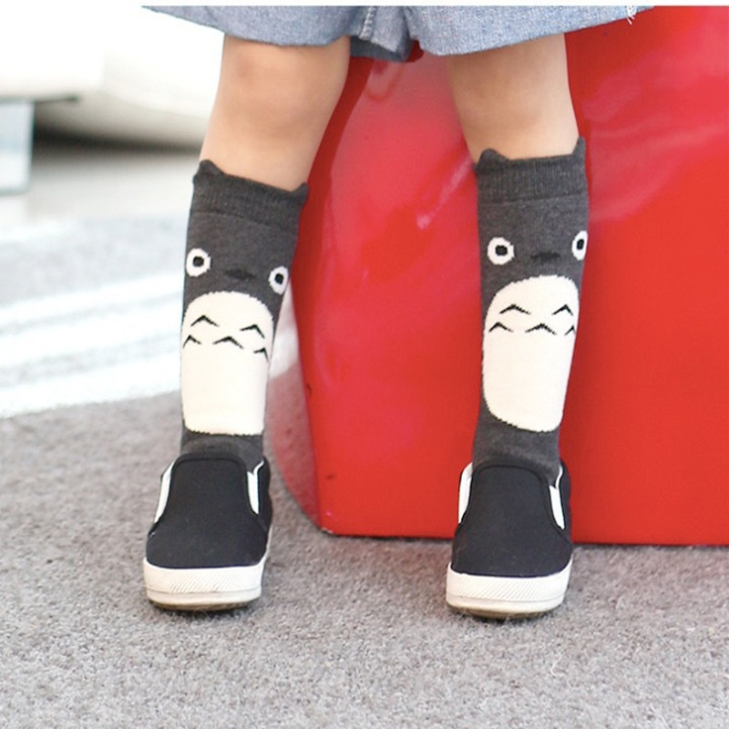 21cda247635 1Pair New fox design knee high baby socks girls totoro leg warmers knee pad  Magic Socks