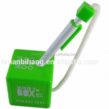 LT-P719 Promotional plastic table pen with green square pen base and chain