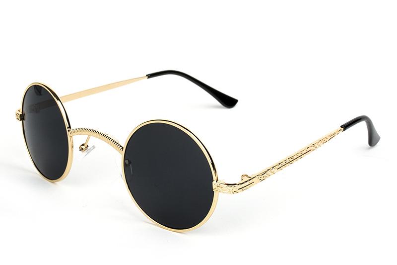 Compre Atacado Novo Steampunk Óculos De Sol Das Mulheres Dos Homens ... bf986ba2e5