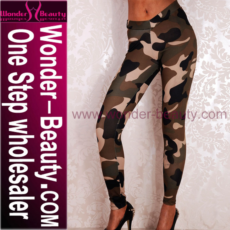 2015 fashion military trousers pants women printed camouflage leggings