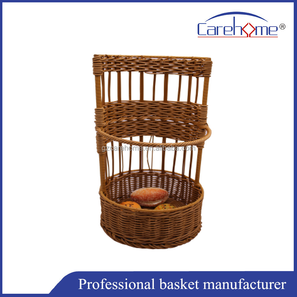 Graceful handweaved Plastic Rattan Baguette Basket for french long bread