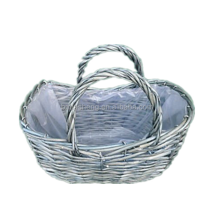 Grey Wicker Baskets, Grey Wicker Baskets Suppliers And Manufacturers At  Alibaba.com