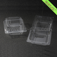 Custom Clear Plastic Hinged Blister Food Container